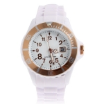 Силиконовые спортивные кварцевые часы ICE Style (Белые)