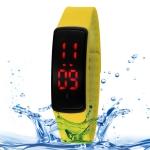 Водонепроницаемые цифровые LED часы SHHORS (Желтые)