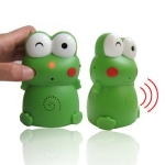 Mung bean Frog Welcome device with Sound recording,High: 10.7cm