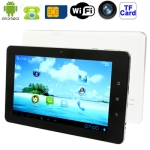Soulycin S8 Luxury Edition White, 7.0 inch Capacitive Touch Screen Android 4.0 Version Mobile Phone Function Tablet PC with WIFI, GSM 900 / 1800MHz, 0.3 Mega Pixels Front Camera, 8GB NAND Flash, CPU: Allwinner A13, 1.0GHz
