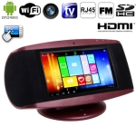 MA-107 Red, 7.0 inch Capacitive Touch Screen Android 4.0 Version Smart Box with WIFI, FM + TV + RJ45 Port, 2.0 Mega Pixels Front Camera, 8GB NAND Flash, CPU: RK2918(ARM + DSP + GPU), 1.2GHz