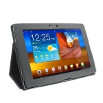 Leather Case with Holder for Samsung Galaxy Tab 10.1 / P7510 / P7500 (Black)
