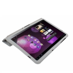 Leather Case with Ultra Thin Smart Cover for Samsung Galaxy Tab  10.1 / P7510 / P7500 (Gray)