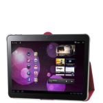 Leather Case with Smart Cover for Samsung Galaxy Tab 10.1 / P7510 / P7500 (Red)