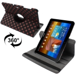 Dot Style 360 Degree Rotatable Leather Case with Holder for Samsung Galaxy Tab 10.1 / P7500 / P7510 (Scarlet Red)