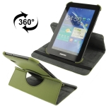 360 Degree Rotatable Leather Case with Holder for Samsung Galaxy Tab 2 / P3100 (Green)
