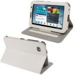 Litchi Texture Horizontal Flip Smart Cover with Holder for Samsung Tab 2 / P3100, Support Tab P6200 (White)