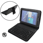 2 in 1 (Bluetooth V2.0 Silicone Keyboard + Folding Leather Protective Case with Holder) for Samsung Galaxy Tab 7.0 Plus / P6200
