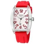 Кварцевые мужские часы с силиконовым ремешком WeiQin Tonneau (Красный + Белый)