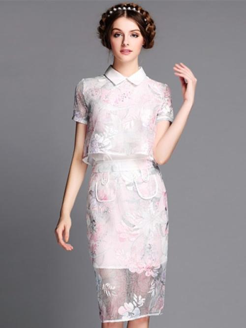 Двойное платье из органзы
