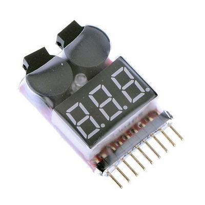 1-8S Voltajebateria Probador Baja Tensionzumbador Alarma Negro