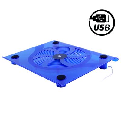 1 Ventilador Refrigeracion Cooler Pad Para Laptop Pc Portatil 141 Pupara Lgadas - 15,4 Pupara Lgadas Azul