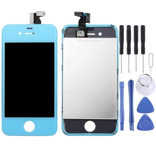 1 Se Trata 3 1 Nuevo Lcd Alta Calidad Superficie Tactil Lcd Marco Asamblea Digitalizador Para Iphone 4 Azul