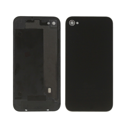 HIGH QUALITY BACK GLASS COVER IPH 4S (BLACK/WHITE)