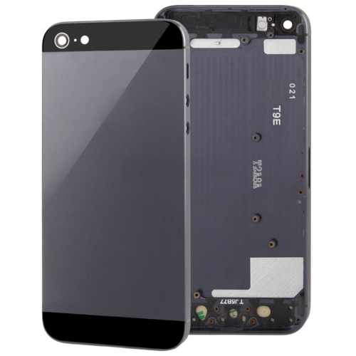 Full Housing Alloy Replacement Back Cover for iPhone 5 (Black)
