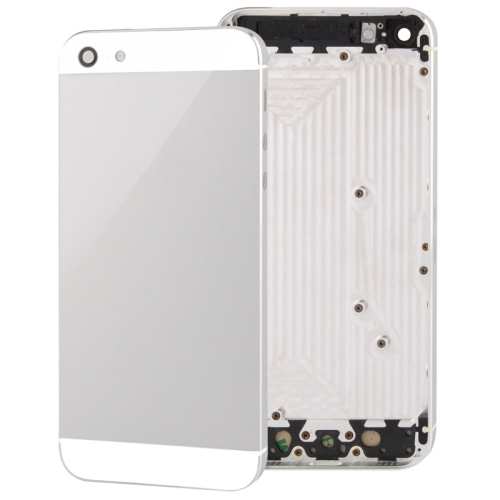 Full Housing Alloy Replacement Back Cover for iPhone 5 (White)