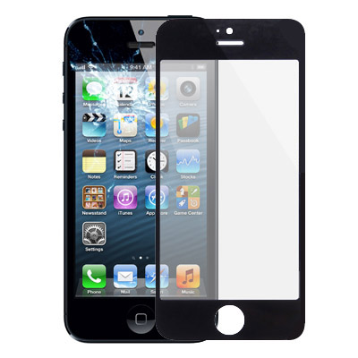 Glass Lens For IPhone 5S(Black)