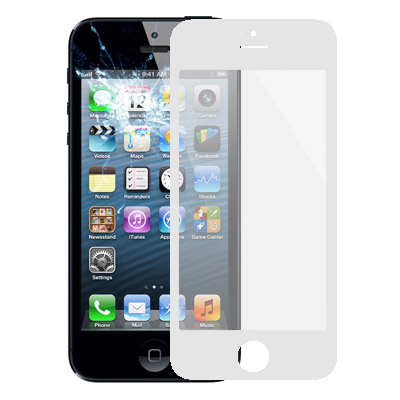 Glass Lens for iPhone 5 & 5S(White)