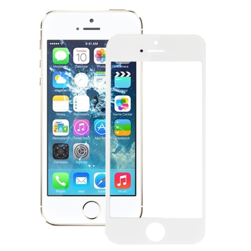 Glass Lens for iPhone 5S(White)