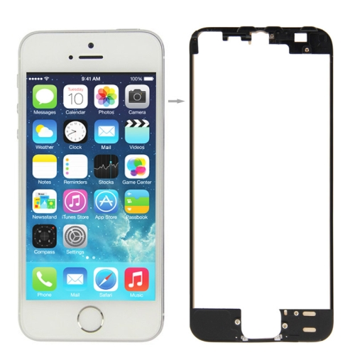 LCD & Touch Screen Frame for iPhone 5S(Black)