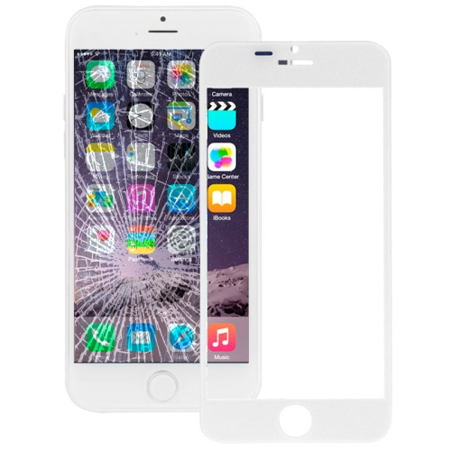 IPH 6+ FRONT GLASS ( WHITE/BLACK)