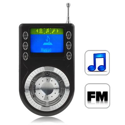 1,5 Pupara Lgadas Pantalla Tft 4 Gb Reproductor Mp3 Altavoz Antena Externa Radio Fm Ayuda Negro