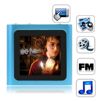 1,5 Pupara Lgadas Pantalla Tactil Tft 4Gb Mp4 Radio Fm Textuales E-Libro Juegos Baby Blue