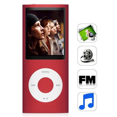 1,8 Pupara Lgadas Tft Pantalla 8Gb Mp4 Radio Fm E-Libro Juegos Rojo