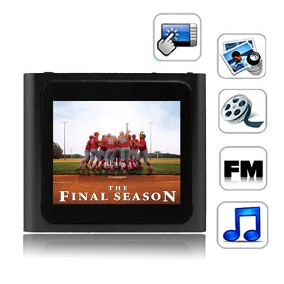 1,8 Pupara Lgadas Pantalla Tactil Tft 2 Gb Reproductor Mp4 Radio Fm E-Libro Juegos Negro