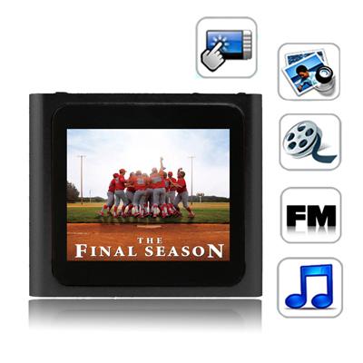 1,8 Pupara Lgadas Pantalla Tactil Tft 4Gb Mp4 Radio Fm E-Libro Juegos Negro