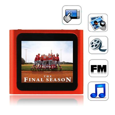 1,8 Pupara Lgadas Pantalla Tactil Tft 4Gb Mp4 Radio Fm E-Libro Juegos Rojo