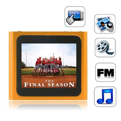 1,8 Pupara Lgadas Pantalla Tactil Tft 2 Gb Reproductor Mp4 Radio Fm E-Libro Juegos Naranja