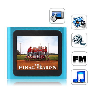 1,8 Pupara Lgadas Pantalla Tactil Tft 2 Gb Mp4 Radio Fm Textuales E-Libro Juegos Baby Blue