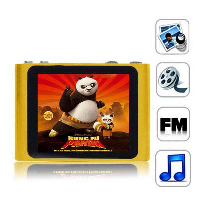 1,8 Pupara Lgadas Tft 4Gb Mp4 Radio Fm E-Libro Juegos Amarillo