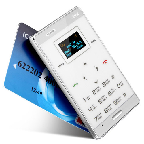 World 39 s ultra slim credit card size smallest gsm touch for Buy slimming world products online