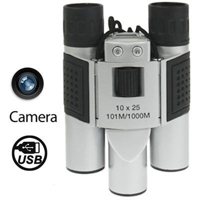 10 × 25 Camara Digital Binoculares Campo Vision: 101M 1000M Dimensiones: 124 × 91 × 62