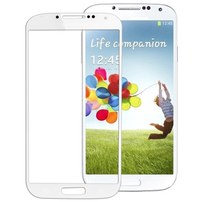 Front Screen Outer Glass for Samsung Galaxy S IV / i9500(White/Blue)