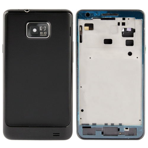 LCDFRAME+MIDLE+BACKCOVER & Volume Button for Samsung Galaxy S II / i9100 (Black/White)
