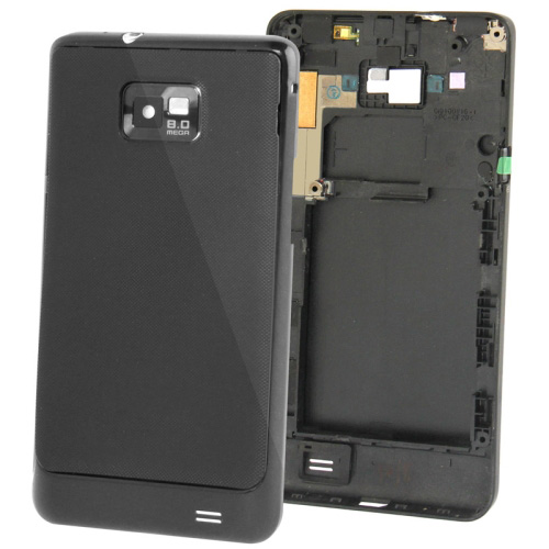 Midle with Back Cover & Volume Button for Samsung Galaxy S II / i9100 (Black/White)