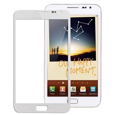 N7000 FRONT GLASS (WHITE/BLACK)