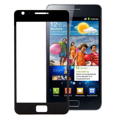 Screen Outer Glass Lens for Samsung Galaxy SII / i9100 (Black/White)