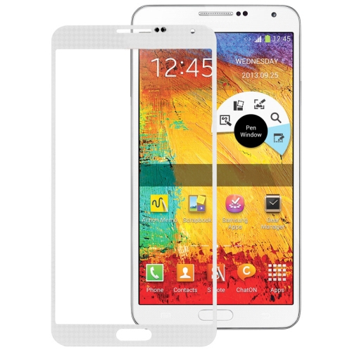 NOTE 3 LCD FRONT GLASS (WHITE/GREY)