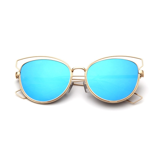 Eyeglass Frame Repair Long Island : SUNSKY - Metal Frame Cat Eye Sunglasses (Lens Colour: Gold ...