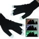 2 x 6-Mode Multi-Color LED Party Gloves (Black)