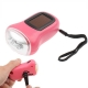 3 LED Hand-cranked Power Flashlight,Size:9x3.5x5cm (Pink)