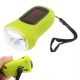 3 LED Hand-cranked Power Flashlight,Size:9x3.5x5cm (Green)