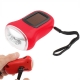 3 LED Hand-cranked Power Flashlight,Size:9x3.5x5cm (Red)