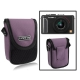 Universal Mini Digital Camera Bag, Size: 10 x 8 x 3.5cm (Purple)