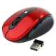 2.4GHz Wireless Optical Mouse with USB Receiver, Plug and Play, Working Distance up to 10 Meters (Red)