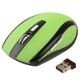 2.4 GHz 800~1600 DPI Wireless Optical Mouse with USB Mini Receiver, Plug and Play, Working Distance up to 10 Meters (Green)
